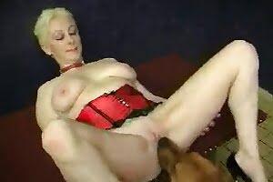 busty dog-fucks-blonde